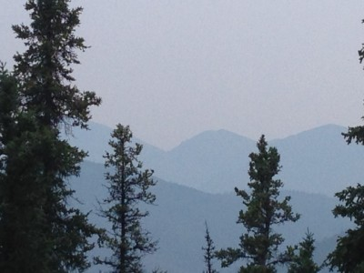 Smoky view from my cabin.