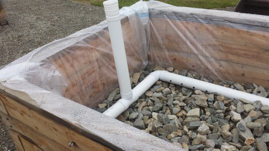 gravel and pipe layer