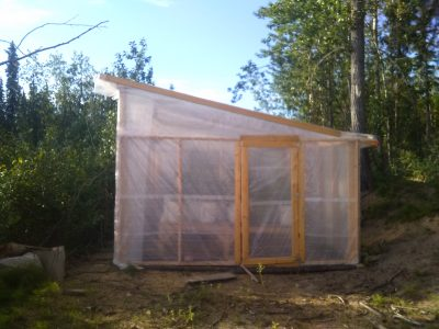 Greenhouse constructed with separate panels.